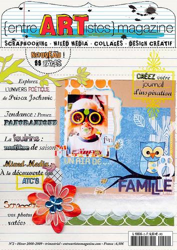 Magazine scrapbooking entre artistes